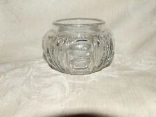 HEISEY #5 Antique Round Puff Box Vanity Jar NO LID Oval Thumbprints & Grooves