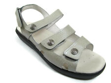 Propet 11 M Comfort Sandal Leather Bahama Silver Emu W0028 New
