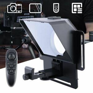 Pronstoor Teleprompter Smartphone Tablet DSLR Kamera Prompter mit Fernbedienung