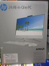 "HP 24 23.8"" All-in-One PC w/ 1TBHDD & AMD Ryzen 3 24-dd0017c White BRAND NEW"