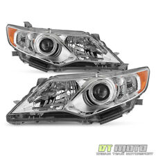 2012-2014 Toyota Camry Projector Headlights Headlamps Replacement Left+Right Set