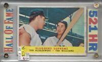 Ted Williams Boston Red Sox  Ted Kluszewski Cin. Reds  1958 Topps #321(e) BV$100