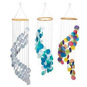 Stairway Capiz Chimes Assorted Colors