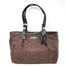 *EUC* COACH F15146 Gallery Signature East West Tote in Brown
