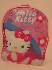 "Hello Kitty Pink Mini Backpack 10""x8"" with Rain Hood and Storage Pouch"