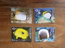 NIUE 2017 BUTTERFLY FISH SET 4 MINT STAMPS