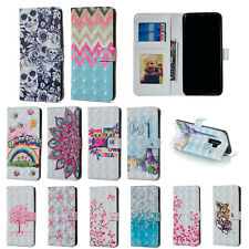 For Samsung Galaxy A70 A50 A30 A20 Pattern Leather Flip Wallet Phone Case Cover