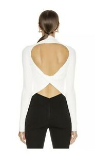 BNWOT Dion Lee Ivory Twist Back Long Sleeve Top.  Size Small RRP $390