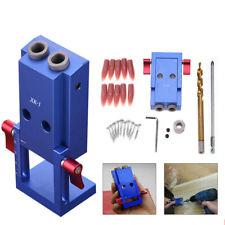 Pocket Hole Jig Kit System Wood Working Joinery Tool Set w/ Step Drill Bit Mini