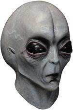 Mens Alien Grey Mask Latex Mask & Neck FILM TV Scary Full Overhead Halloween NEW