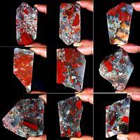 Natural Red Blood Stone Slab Crystal Rock Polished Specimen For Cabbing PS01