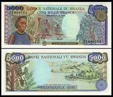 New listing Rwanda 5,000 5000 Francs 1988 P 22 Unc African Money Coffee Harvest