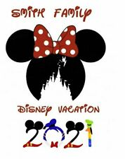DISNEY FAMILY VACATION MICKEY CASTLE  2021 PERSONALIZED T-SHIRT IRON ON TRANSFER