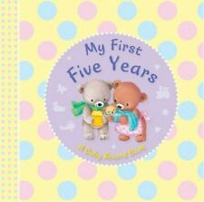 My First Five Years Baby Record Book Baby Shower Boy Girl New Born Keepsake Gift
