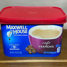 4 Maxwell House International Cafe Francais Style Instant Coffee 7.6 oz Each