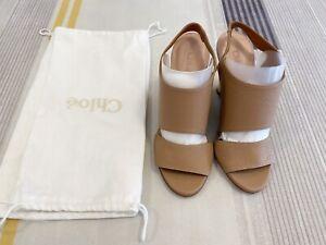 Chloe Wedge Slingback Sandals EUR Size36,brandy New.