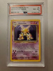 1999 Pokemon Base Set Alakazam PSA 8