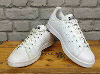 ADIDAS STAN SMITH WHITE LEATHER TRAINERS PERFORATED STRIPES LADIES CHILDRENS