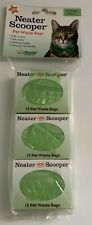 New Neater Scooper Pet Waste Bags 45 Bags Total Odor Control Cat/Dog