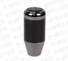 NRG ALUMINUM FATBOY STYLE SHORT THROW 5 / 6-SPEED SHIFT KNOB CARBON FIBER