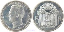 ESSAI , MONACO RAINIER III  5 FRANCS  ARGENT 1960 , FDC