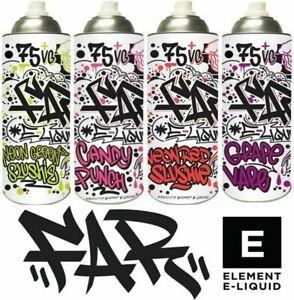FAR E-Liquid by Element 0mg 100ml Shake Vape Series, Vape Juice TPD Compliant