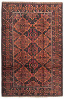 """Hand-knotted Carpet 5'9"""" x 8'11"""" Traditional Vintage Wool Rug"""