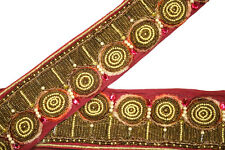 Vintage Saree Border Embroidered Trim Indian Ribbon Deco Craft by The Yd ST2233