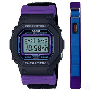 Casio G-Shock Special Colour Editon Watch w/ Extra Cloth Band DW-5600THS-1