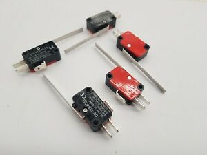 5pcs LONG LEVER / LIMIT MICRO SWITCH 12V / 24V / 250VAC 10A SPDT