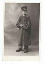 BM845 Carte Photo vintage card RPPC Enfant déguisement jeune garçon champêtre