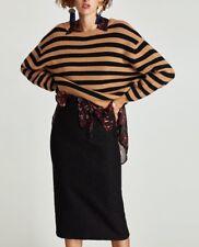 Zara AW17 Women Black Lace Pencil Skirt Size XS NWT