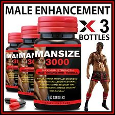 180 X MALE ENHANCEMENT CAPSULES GET BIGGER GROW LONGER THICKER GAIN SIZE GIRTH