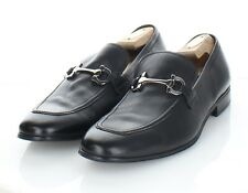 82-62 Men's Sz 9.5 E Salvatore Ferragamo Leather Apron Toe Bit Loafer