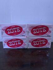 4 Bars JABON Zote Barra Rosa PinkLaundrySoap Bar 200g Stain Dirt RemovingAgent