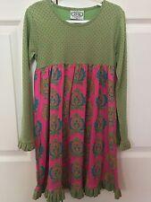 NWT Flit & Flitter Size 6x Girls Long Sleeved Green & Pink Dress