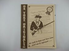 1995 Ox Yoke Originals Catalog, Ammo Gun Firearm, Stock Brochure