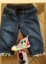 Disney Baby Mickey Mouse Blue Jeans 6 Mo And Mickey Mouse Shoes 9-12 Mo Boy Girl