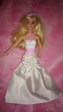 BARBIE MATTEL BAMBOLA sposa vestito da sposa abito p230 Bride Doll cff37 Wedding Day