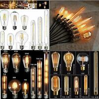 E27 E14 2W/4W/6W/8W/40W LED Retro Edison Filament Globe Candle Light Lamp Bulb
