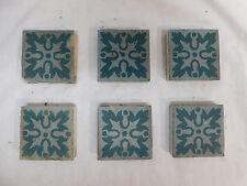 Six - U.S.E.T. Co. U.S. Encaustic Tile Co. Tiles - C. 1900 Architectural Salvage