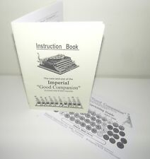 Imperial Portable Typewriter Good Companion Typewriter Instructions & Type Guide