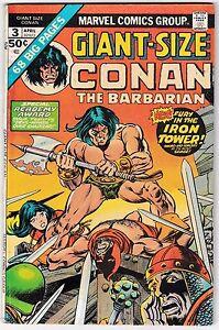 GIANT-SIZE CONAN #3 (FN-) Big 68 Pages! Sword & Sorcery! 1975 Robert E. Howard