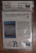 "The Scarlet Letter ""Elizabeth Irwin Sampler""  -Reproduction Cross Stitch Kit"