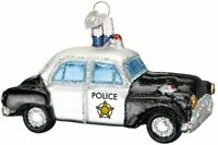 New Old World Christmas Police Car Ornament w/box