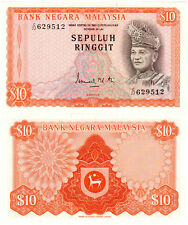 Malaysia $10 P#9 (1972) 2nd Series UNC