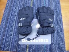 Scott Kids Childs Juniors Black Ski Winter Gloves Size Large 7.5 Excellent!