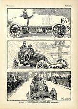 París-madrid m. renault mortal herido funesto automobilwettfahrt 1903