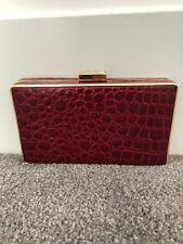 Evening Queen NWT Red Imitation Crocodile Skin Box Clutch/Purse/Handbag. EQ168