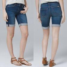 White House Black Market Women's Denim Bermuda Cuffed Shorts - Size 10- NWT